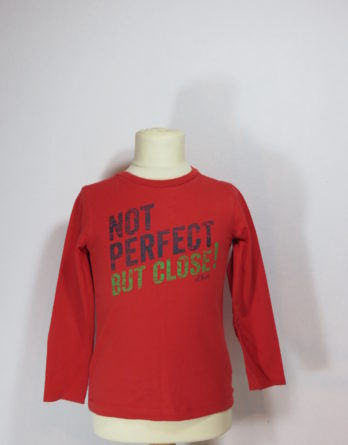 "Langarmshirt ""Not perfect but close"""
